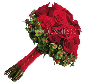 Red Rose Nosegay Bridal Bouquet