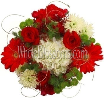 Red White Flower Gerbera Daisy Centerpieces
