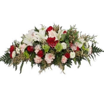 Red white rose flower arrangements whole blossoms red white rose flower arrangements mightylinksfo Image collections