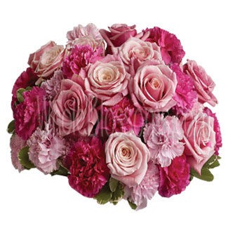 Pink Affair Wedding Flowers Package