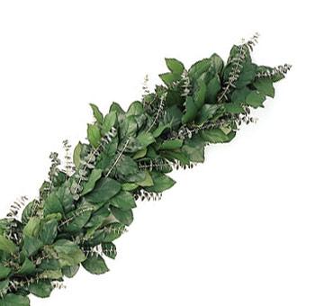Salal Eucalyptus Evergreen Garland