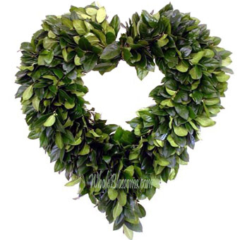 Salal Heart Wreath