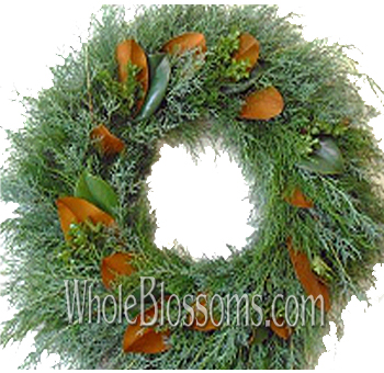 Seeded Magnolia Wreath