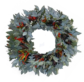 Seeded Safari Peppers Wreath
