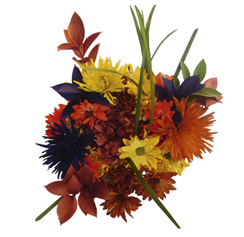 Lovely Orange Fall Centerpieces