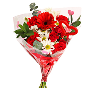 Bring On The Love Valentines Flower Bouquet