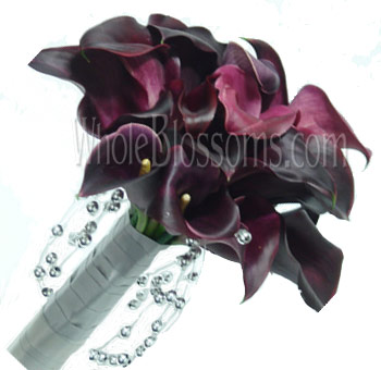 Chocolate Nosegay Mini Calla Bridal Bouquet