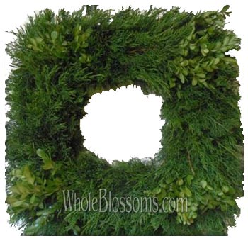 WB Fresh Cut Squared Wreaths