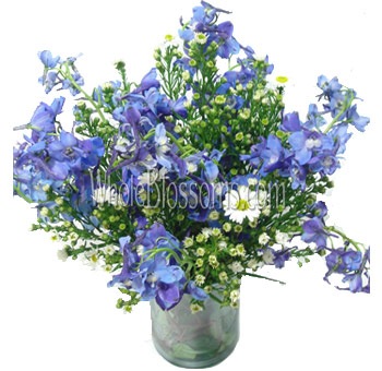 Blue Delphinium Wedding Centerpieces