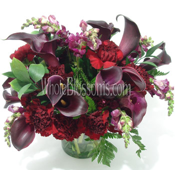 Dark Purple Mini Calla Wedding Centerpieces