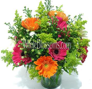 Buy wholesale simple centerpieces floral centerpieces arrangements orange hot pink gerbera wedding centerpieces junglespirit Choice Image