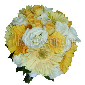 Gerberas and Roses Wedding Flowers Package