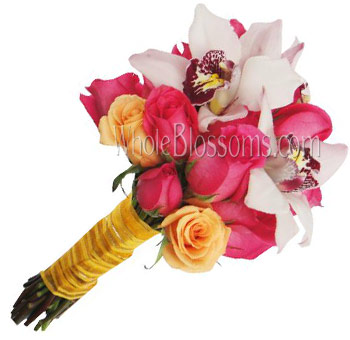 Hot Pink White Fantasy Bridal Flower Package