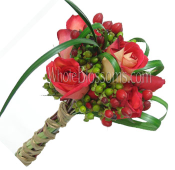 Bicolor Posy Rose Bridesmaids Bouquets