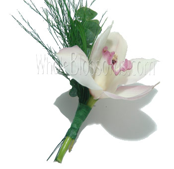 White Orchid Boutonniere Flower