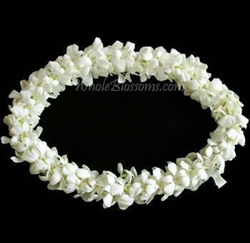 Fresh flower leis fresh hawaiian leis wholesale hawaiian leis white lei double bom mightylinksfo Images