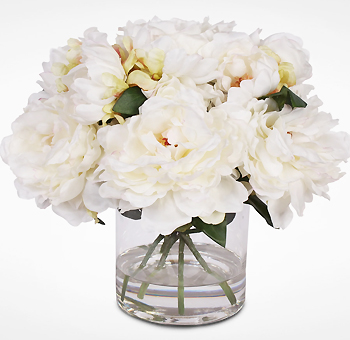 White Peony Flower Bouquet