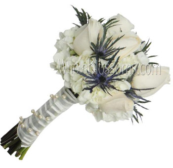 White Rose Nosegay Bridal Bouquet