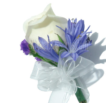 White Rose Pin Corsage Flower