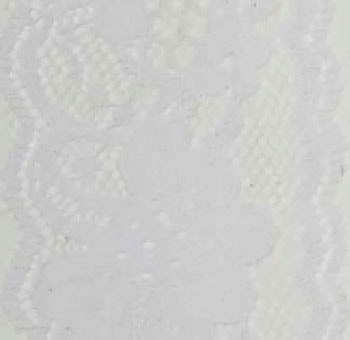 "2"" Vintage Lace Ribbon 25 Yards - White"