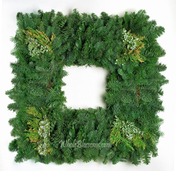 Evergreen Square Wreath