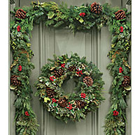 wholesale garland wreaths swags flower for sale christmas garland wholesale