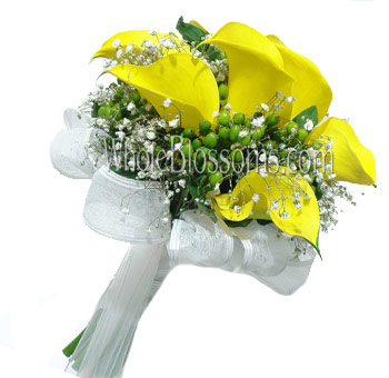 Yellow Nosegay Mini Calla Bridal Bouquet