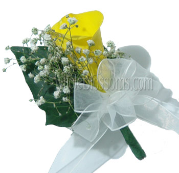 Yellow Mini Calla Pin Corsage Flower