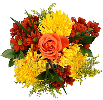 Invitingly Yellow Fall Centerpiece