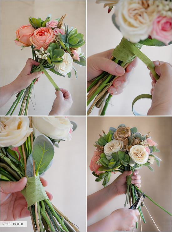 how to make your own wedding bouquet with fake flowers 2 how to make a bouquet of flowers in few simple steps 5017