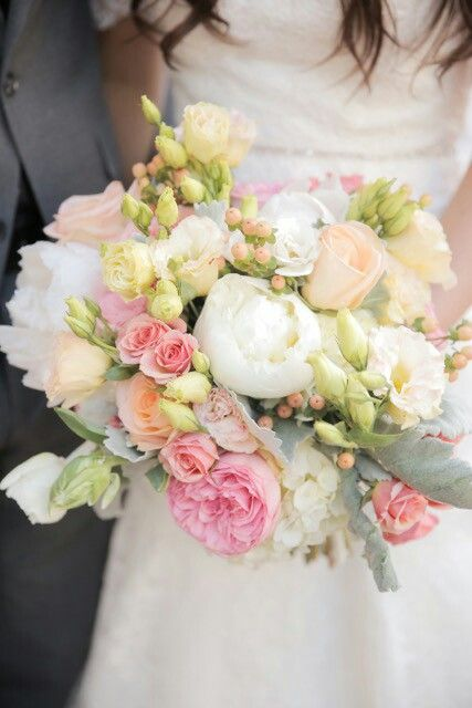 Garden roses and peonie