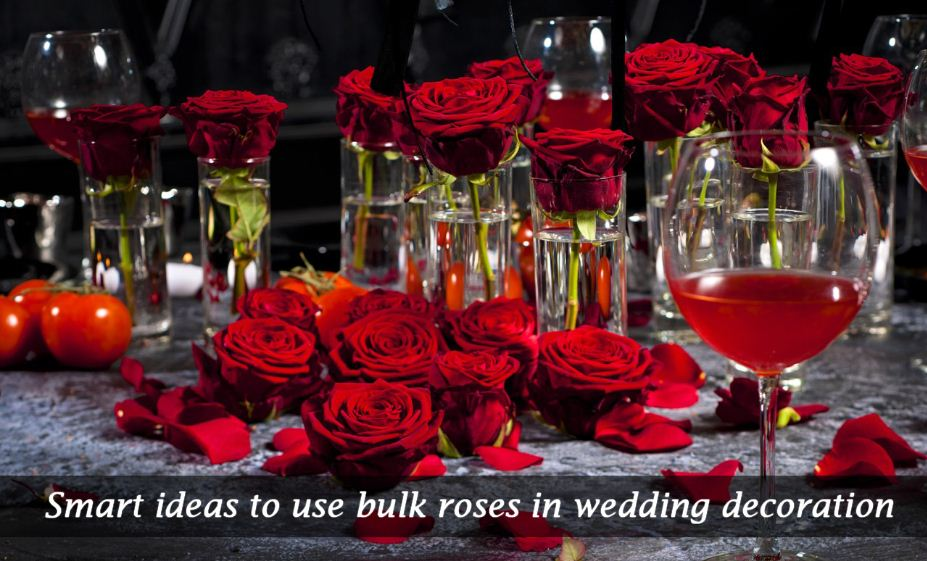 Smart ideas to use bulk roses in wedding decoration
