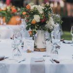 rose wedding table arrangements