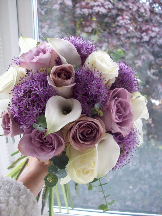 Allium Flowers Bridal Bouquet