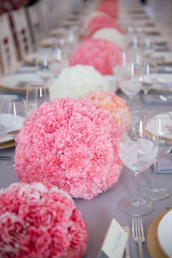 Carnation Centerpieces & Table Decoration