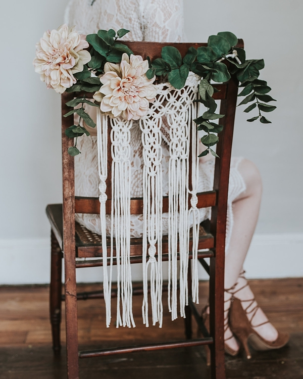 Chair Decoration for Boho Weddings