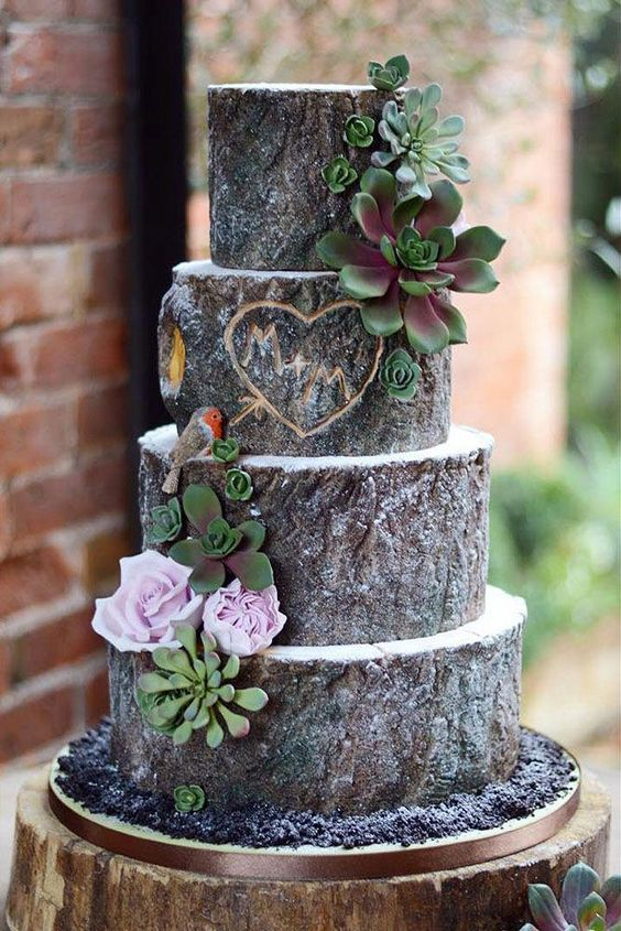 beautiful DIY wedding cake