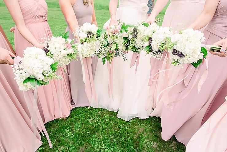 bridesmaids bouquets fresh cut flowers