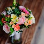 diy wedding bouquet on table