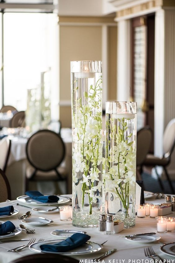 Glass Vase Centerpieces for DIY Wedding