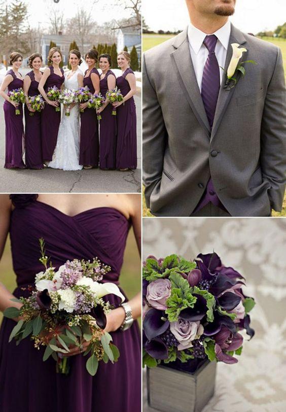 Fall Wedding Purple Color Combination