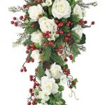 Christmas Bouquet with White flowers and red berries