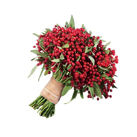 Red Bouquets with Hypericum Berries