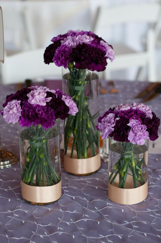 Purple Carnation Flower Arrangements