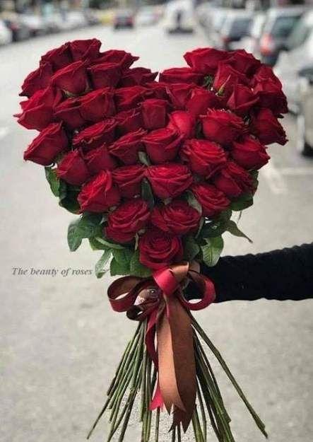 Valentine's Day Heart Rose Centerpiece