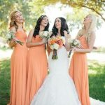 Orange Color Bridesmaids Dress