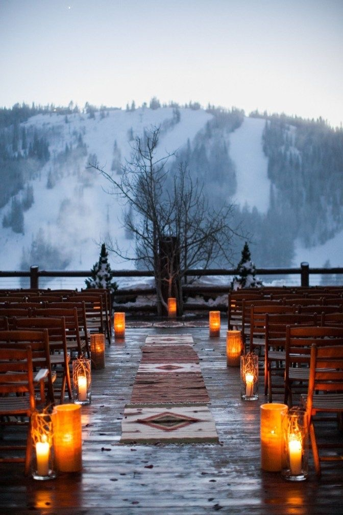 Outdoor Winter Wedding Flowers