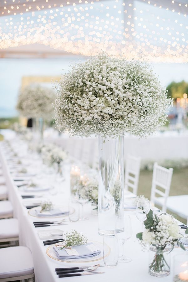 Baby's breath flowers for wedding decorations