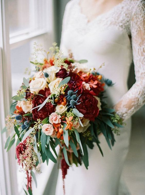 bridal bouquet in summer