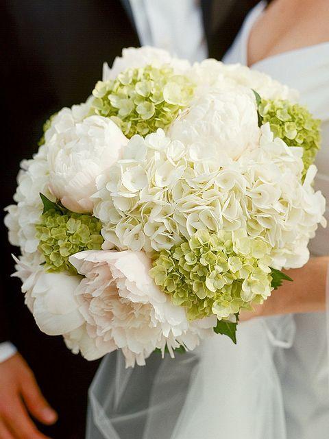 wedding hydrangea bouquet